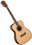 Washburn AF5K Apprentice Series Folk Body Acoustic Guitar with Hard Case