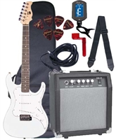 AXL SRO Headliner AS-750 Electric Guitar Starter Package - Kids Electric Package 4/4 3/4 and 1/2 - 5 Colors!