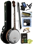 Gold Tone BG-250F Bluegrass Special 24 Bracket 5-String Banjo Complete Package w/ Free Shipping