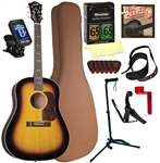 Blueridge BG-40 Acoustic Guitar Soft Shoulder Dreadnought Guitar Deluxe Package Combo Bundle