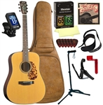 Blueridge BR-140 Dreadnought Acoustic Guitar Deluxe Package Bundle Combo