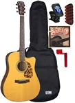 Blueridge BR-140CE Cutaway Acoustic/Electric Guitar Starter Package Combo Bundle