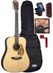 Blueridge BR-160A Adirondack Dreadnought Acoustic Guitar Package - Starter Bundle