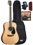 Blueridge BR-40 Contemporary Series Dreadnought Acoustic Guitar Starter Package Bundle Combo