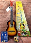 Chord Buddy Kids Childs 1/2 Size Sunburst Steel String Acoustic Guitar Chord Buddy Play Now Jr. Junior Package ChordBuddy