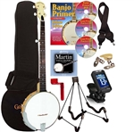 Gold Tone CC-100 Open Back Banjo Package Cripple Creek 5 String Banjo