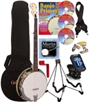 Gold Tone Cripple Creek CC-100R Maple Banjo Package. Free shipping!
