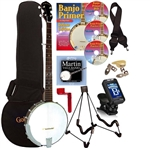 Gold Tone CC-50 5 String Open Back Banjo Package. Free Shipping!