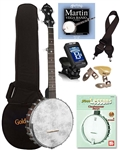 Gold Tone Cripple Creek CC-OTA Open Back 5 String Banjo Complete Package Bundle