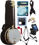 Gold Tone Cripple Creek CC-Tenor 4 String Maple Resonator Banjo Package