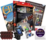 Chord Buddy Guitar Teaching Learning System Practice Aid Package w/ True Tune Chromatic Tuner Martin Strings Fender Picks ChordBuddy