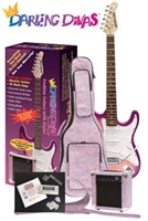 Darling Divas DD950 Girls Electric Guitar Amp Bag Package - Complete Starter Combo
