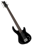 Dean Edge 1 5-String Bass Guitar in Classic Black
