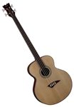 Dean EAB FL Fretless Acoustic/Electric Bass Guitar - Gloss Natural