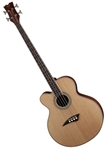 Dean EABC L Cutaway Acoustic Electric Bass Guitar Left Handed in Satin Natural