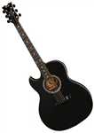 Dean Exhibition Acoustic-Electric Guitar with Aphex in Black Satin Left-Handed w/ Deluxe Bag EX BKS L