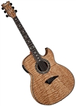 Dean Exhibition Thinbody Quilt Ash Acoustic/Electric Guitar EXQA GN