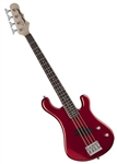 Dean Hillsboro Junior 3/4 Size Electric Bass Guitar in Metallic Red