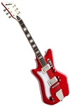 Eastwood Airline '59 2P Custom Solid Body Retro Electric Guitar w/ Deluxe Hard Case - Left Handed Red
