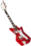 Eastwood Airline '59 2P Custom Solid Body Retro Electric Guitar w/ Deluxe Hard Case - Red