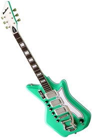 Eastwood Airline '59 3P Custom Solid Body Retro Electric Guitar w/ Deluxe Hard Case - Seafoam Green