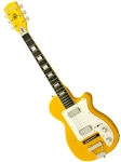 Eastwood Airline H44 2P DLX DeluEastwood Airline H44 2P DLX Deluxe Electric Guitar Copper, Black, Yellow