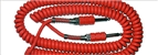 Eastwood Airline Coiled Guitar Cable - Red, Black or White