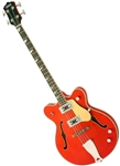 Eastwood Classic 4 Hollowbody Reissue Electric Bass Guitar - Orange, White, Walnut, or Left Handed!