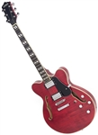 Eastwood Classic 6 HB Hollowbody Electric Guitar - Dark Cherry