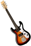 Eastwood Hi-Flyer Phase 4 IV Univox Reproduction 6-String Electric Guitar Sunburst or White