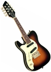 Eastwood Mandocaster Solid Body Electric Mandolin Left Handed Sunburst