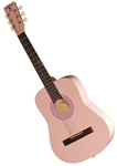 "Indiana Filly 36"" 3/4 Size Kids Jr. Pink Steel String Acoustic Guitar w/ Bag"