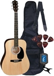 Johnson JG-610 Steel String Acoustic Guitar Package - Alpha Level