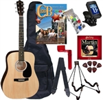 Johnson JG-610 Steel String Acoustic Guitar Chord Buddy Play Now Package