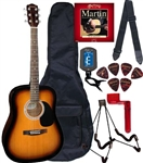 Johnson JG-620 Spruce Top Acoustic Guitar Package - Beginner Pack