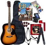 Johnson JG-620 Acoustic Guitar Package w/ Chord Buddy - PLAY GUITAR INSTANTLY ChordBuddy