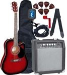 Johnson JG-650 Thinbody Acoustic Electric Guitar Amp Package Beginner Pack