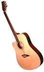 Kona K2 Series K2LN Left Handed Thin Body Acoustic/Electric Guitar - Natural