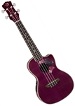 Luna UKE FLO Floral Concert Flame Maple Acoustic/Electric Ukulele w/ Preamp