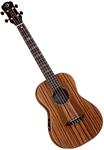Luna High Tide Zebrawood Baritone Acoustic/Electric Ukulele Uke w/ Bag UKE HTB ZEB