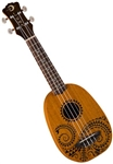 Luna Soprano UKE TATTOO Pineapple Tattoo Mahogany Ukulele w/ Bag