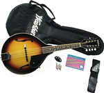 Washburn M1K A-Style Mandolin Package Starter Pack with Bag,Strap,Picks,Tuner