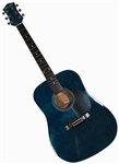 Main Street Dreadnought Acoustic Guitar in Transparent Blue MA241TBL