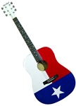 Main Street Texas Flag Dreadnought Acoustic Guitar
