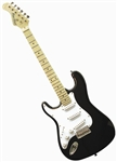 Main Street Double Cutaway Left Handed Electric Guitar in Black MEDCBKL