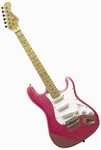 Main Street Double Cutaway Electric Guitar in Pink MEDCPNK