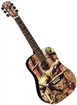 "Indiana MO-34 3/4 Size 34"" Mossy Oak Camouflage Camo Acoustic Guitar Kids Jr. Small"