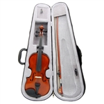 Merano MV200 Hard Carved Student Beginner Violin with Case - Full and Fractional Sizes 4/4-1/16