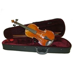 Merano MV400 Hard Carved Student Violin with Case - Ebony Fittings Full and Fractional Sizes 4/4-1/10