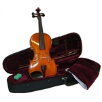 Merano MV500 Solid Hand Carved Flamed Maple Ebony Fittings Student Violin w/ Case 4/4-1/16